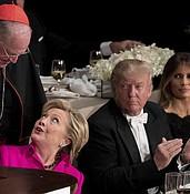 Trump, Clinton trade caustic barbs as roast turns bitter (VIDEO) photo
