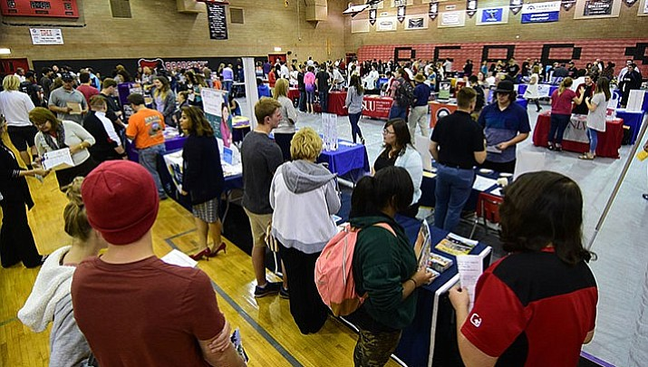 Colleges, nonprofits, military present options at fair