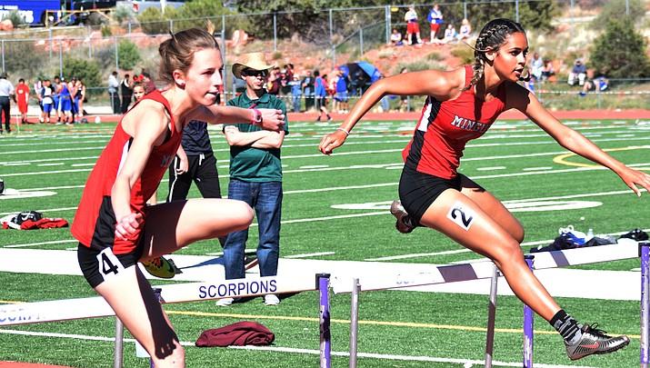 Senior Auli Hanks, junior Hannah DeVore set pace for Mingus girls track squad
