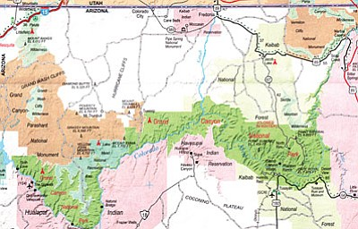 Dixietoday.com/courtesy<br /><br /><!-- 1upcrlf2 -->Map showing the Arizona strip area.