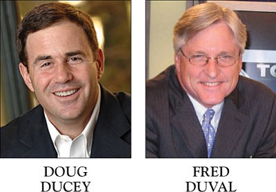 Republican Doug Ducey and Democrat Fred DuVal want to be Arizona's next governor.