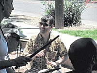 """Arizona Dunun Ensemble is a musical group based in Cornville, specializing in West African drumming. The Ensemble is dedicated to learning traditional rhythms and songs which accompany the Djembe, or """"Jebe Bara,"""" which means Drum of Unity."""