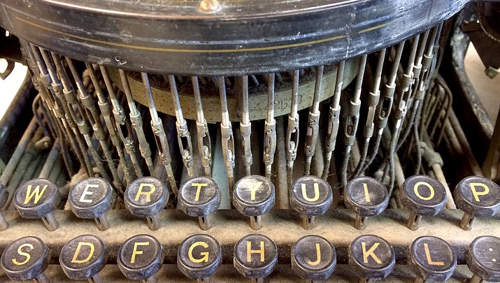 Typewriter collection joins art exhibit at Prescott Center for the Arts