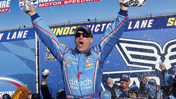 Harvick wins at New Hampshire to advance to 2nd round of Chase