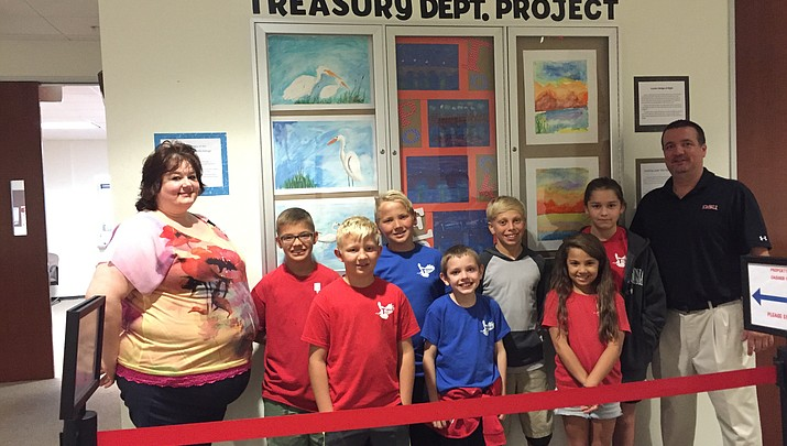 County Treasurer's office inspires young artists in grades 4-6