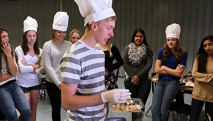 Prescott High School students learn communication, teamwork in mock cooking competition
