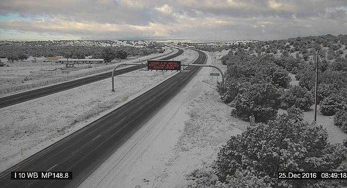 I-40 near Ash Fork. Here's what the road looks like at MP 148.