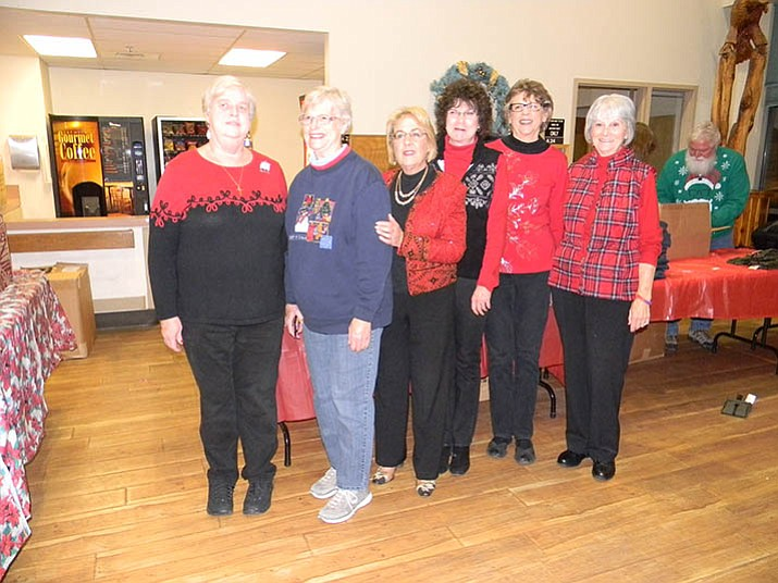 Pictured at the at VA Domiciliary are Lynda Avey, Sue Burk, Lee Nelson, Debbie Lamb, Linda Shebek, and Bev Stuart-Borok. Not pictured: Kathy Machmer, Mary Feist, Sheri Mesch.