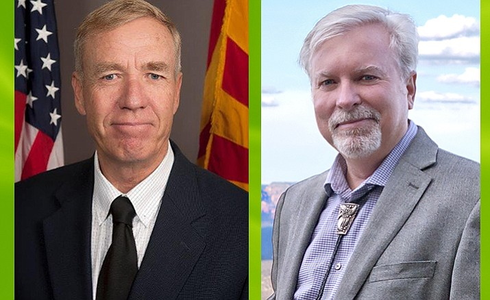 """Supervisor Tom Thurman, left: """"I don't want to ever see these type of things on an outgoing elected official's last days. It smells of last-minute decisions, not being vetted through."""" Supervisor Randy Garrison, right: """"It wouldn't matter to me if it was only 8 acres ... It was discussed already, and it doesn't matter if it's 80,000 acres or 160,000 acres, the public has spoken."""