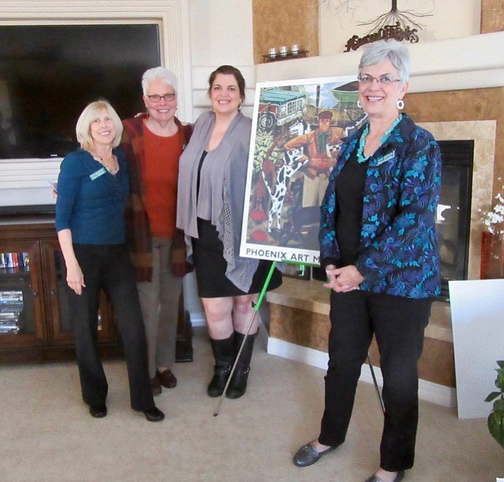 From left are Beth Millbourn, Connie Boston, Mariah Sinclair and Cathy Severson.