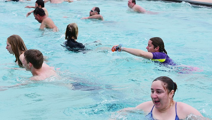 Residents take the plunge into winter fun