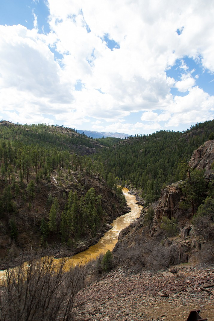 The polluted Animas River flows through the mountains of Colorado after a mine spill in August 2015. On Jan. 13, the Environmental Protection Agency said they would not compenste for claims filed by the Navajo Nation. Adobe stock