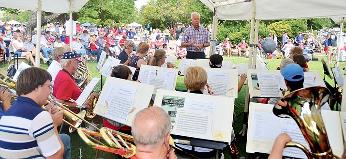 Cottonwood Community Band at the Clarkdale July 4 celebration. (VVN/Vyto Starinskas)