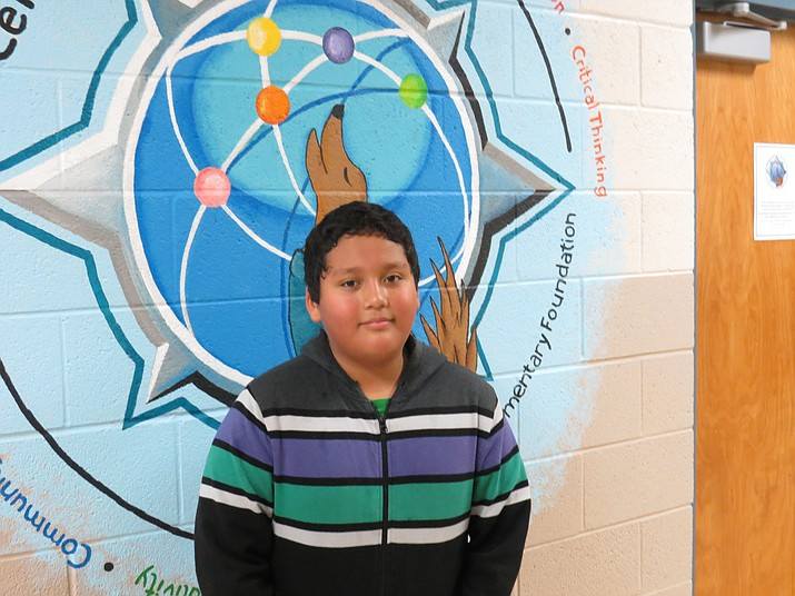 Brandon Amaya, a fifth-grade student at Coyote Elementary School, has grown so much in such a short amount of time.
