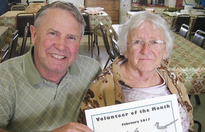 The Camp Verde Senior Center has selected Kathy Gray as the February Volunteer of the Month.