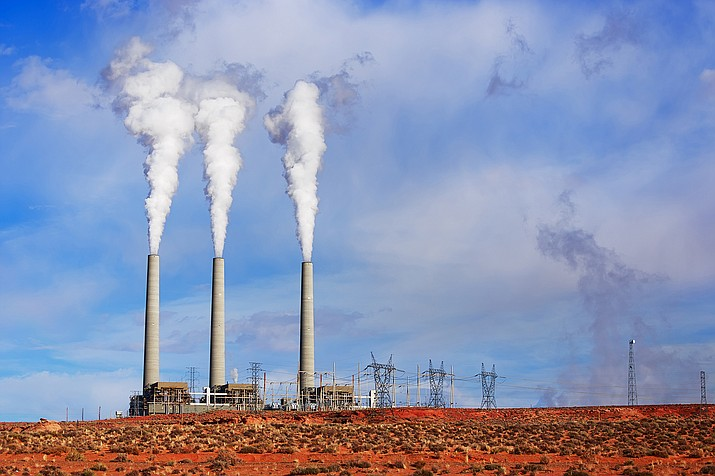 The Navajo Generating Station uses coal to produce electricity. Because of recently declining prices of natural gas, the station is facing an uncertain future. Adobe stock
