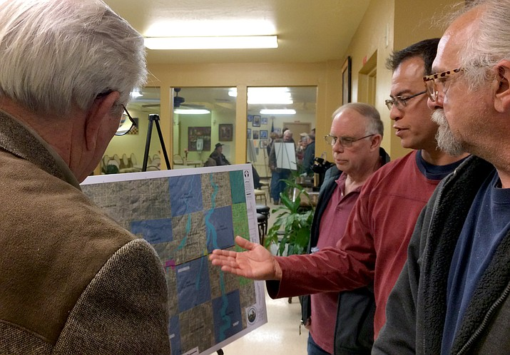 About 80 people showed up at the public meeting in the Chino Valley Senior Center Feb. 7 to speak with county officials and engineers about the Northern Connector Corridor planned 10-15 years out to extend Center Street west to Williamson Valley Road.