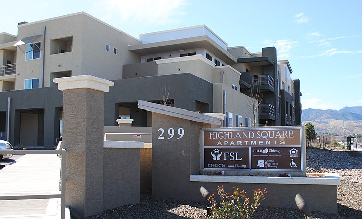 The Highlands Square Senior Apartment complex is now open after months of delay. (VVN/Jennifer Kucich)