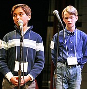 PV boy wins third consecutive county spelling bee photo