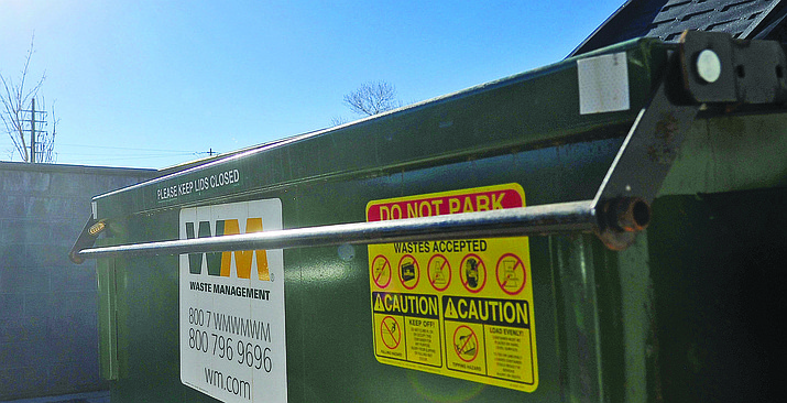 The City of Prescott on Tuesday will consider collecting hazardous items, which should not be disposed of in regular dumpsters. (Courier file)