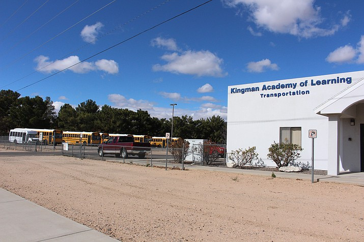 Kingman Academy of Learning Transportation office located on 2299 Beverly Ave. (Photo by Vanessa Espinoza/Daily Miner)