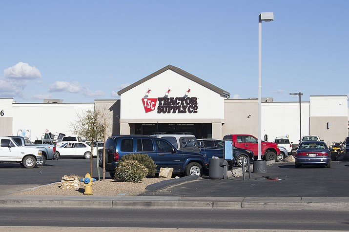 Kingman Tractor Supply Co. on 3136 Stockton Hill Road works with the community by working with different pet organizations in donating food and hosting pet adoption events. (Photo by Vanessa Espinoza/Daily Miner)