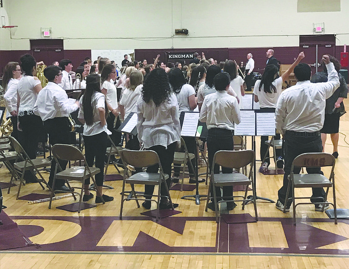 KUSD students preparing to perform during last year's public band festival. (Courtesy Photo)