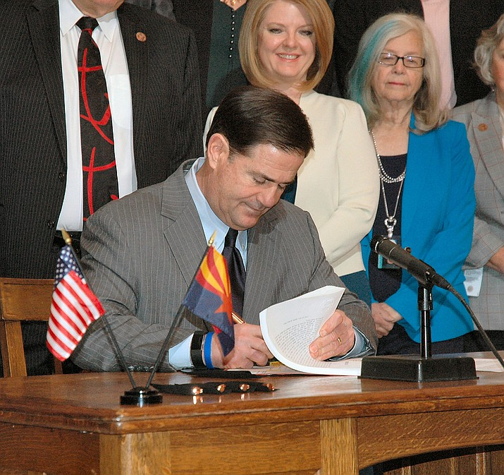In January, Gov. Doug Ducey signed legislation making major changes in state laws that will affect access of patients and others to opioids. (Daily Miner file photo)