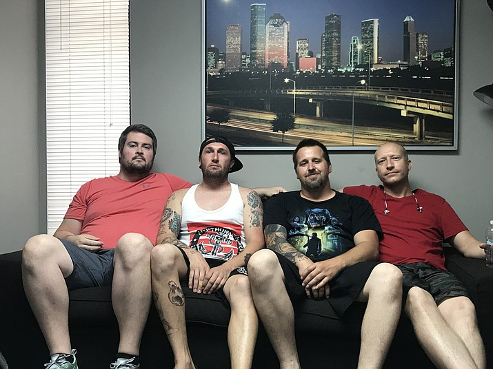UOB took time for a quick photo Saturday. From left to right are Wes Schrimsher, Nick Turner, Nate Fulps, Casey Waits. (Photo courtesy of Nick Turner)