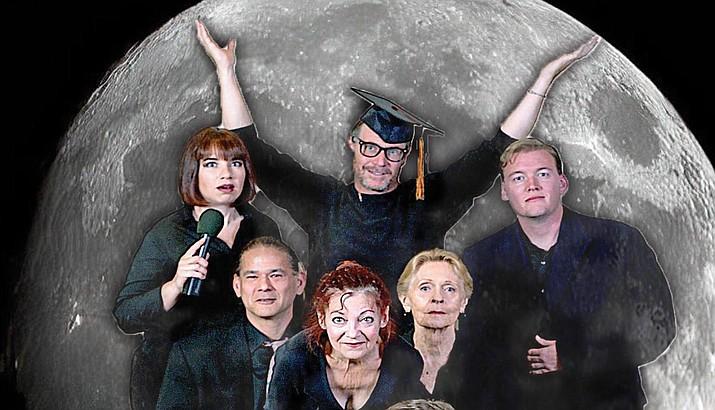 Dylan Marshall - top,  (l-r) Tiffany Grimm, Phil Oberholzer, (middle l-r) Dave Belkiewitz, Terra Shelman, Joan Westmoreland, (front l-r) Sarah Ann Lesslie, Zeke Collins. Photo by Larry Kane