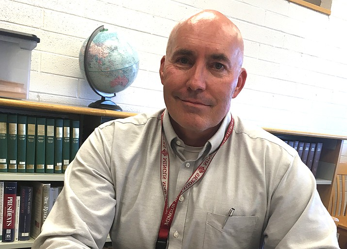 The Mingus Union School Board has not yet decided - at least not in open meeting - who will replace Acting Superintendent Genie Gee on June 30. Mike Westcott, pictured, is the district's only candidate following an internal search. VVN/Bill Helm