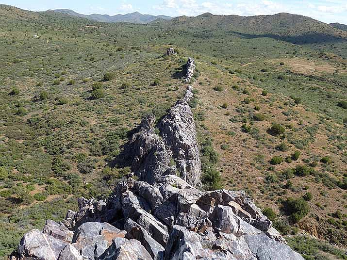 Rock Dyke, 2 billion years old. (Nigel Reynolds/Courtesy)
