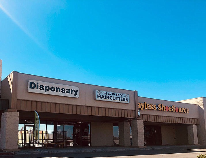Kingman has two dispensaries, Medusa Farms, 3358 E. Andy Devine Ave. (shown above), and Hana Kingman, 2095 E Northern Ave. At both, a medical card is required to purchase marijuana. (Photo by Agata Popeda/Daily Miner)