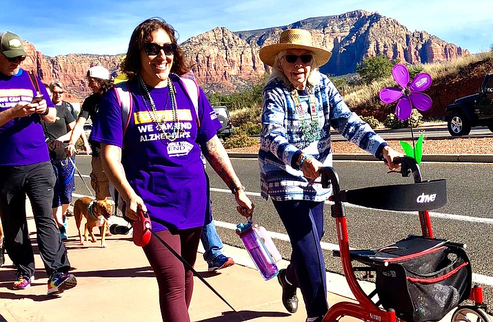 """Bring the family and socialized dogs (they have their own registration) and help raise awareness and funds for the effort to """"find Alzheimer's first survivor"""".  Contact Lesley Jenkins, Regional Director for the Desert Southwest Chapter, at 928-237-2927 or ldjenkins@alz.org, or Carolyn Fisher, 928-284-4638, for further information."""
