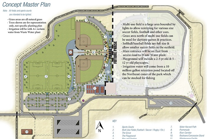 Jan. 15 is the deadline for bids on Phase 1B on the Camp Verde Sports Complex. The complex is located east of the Verde Ranger Station on SR 260.