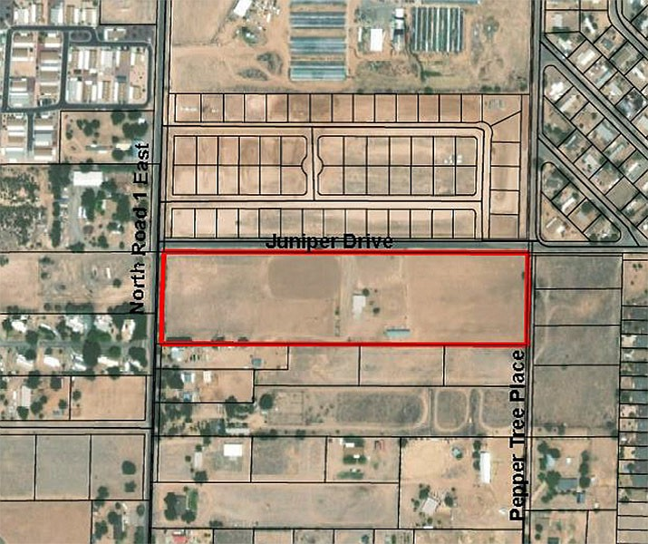 The location of the proposed Craftsman Court project. (Town of Chino Valley/Courtesy)
