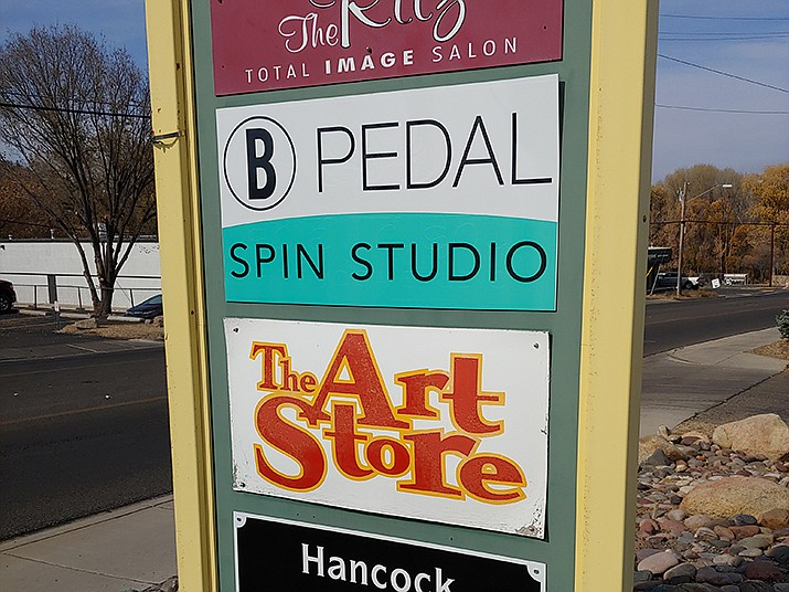 A sign for The Art Store at 537 Sixth St. in Prescott. Three other businesses operate in the complex. (Doug Cook/Courier)