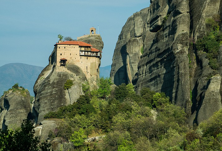 Monastery in Meteora, Greece, built generations ago by monks, still occupied today, by Bev Copen