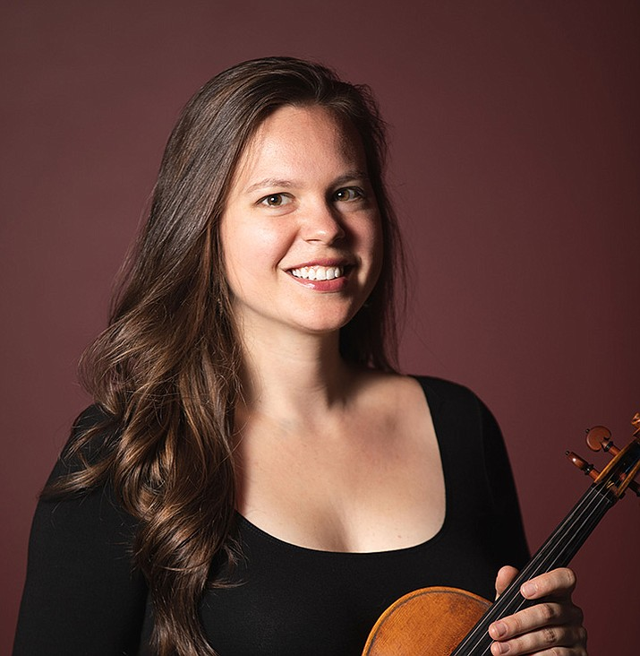 "Adrienne Finet will join the Phoenix Symphony as a soloist in the group's performance of Felix Mendelssohn's ""Violin Concerto in E minor"" during its Sunday, Feb. 23, show at the Yavapai College Performing Arts Center. (Sue Bray/Courtesy)"