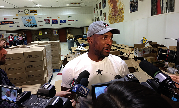 Arizona Cardinals cornerback Patrick Peterson hopes to be known for more than football. His foundation is helping to feed the homeless. (File photo by Perry Cohen/Cronkite News)