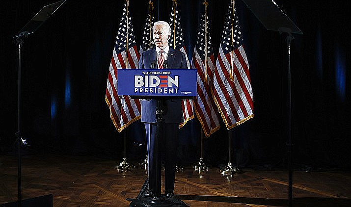 Biden and his running mate Sen. Kamala Harris, D-Calif., are scheduled to visit Arizona in person Thursday for the start of mail-in voting in the state. VVN file photo