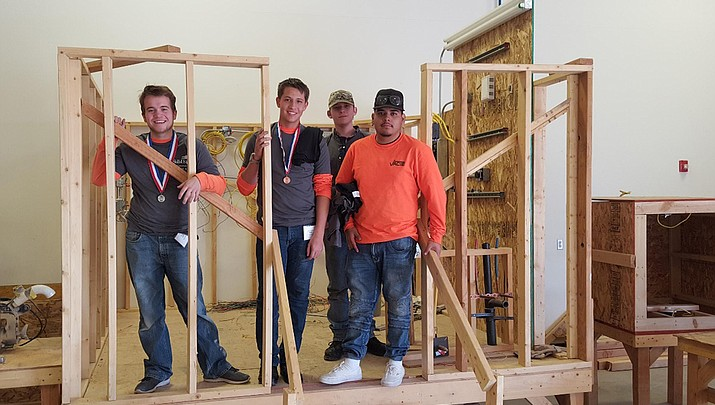 Valley Academy sends fire science, construction students to SkillsUSA competition