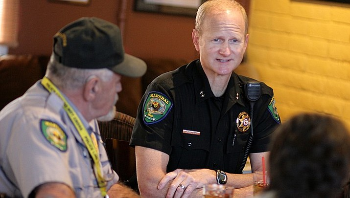 Town manager prepared to 'field questions' about former marshal at Coffee with a Cop