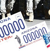 Should veterans pay more for an Arizona veterans' license plate? photo