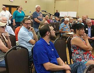 People With Questions And Comments On The Proposed ITC Big Chino Valley  Pumped Storage Project Line Up Wednesday, June 27, At The Prescott Resort.