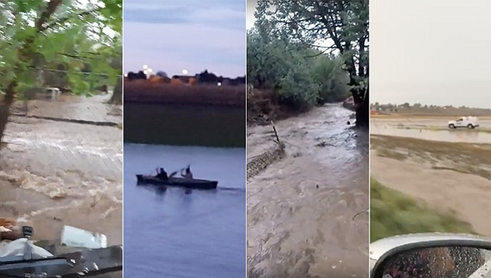 Flash flooding causes difficult conditions in the Prescott area, residents share videos