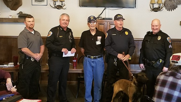 Kingman Photo | Check given to the KPD K-9s