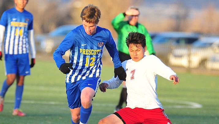 No. 9 Badgers shut out rival Mingus boys soccer 2-nil