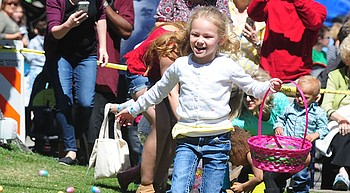 Eggs galore at Great Prescott Easter Egg Hunt on Saturday photo