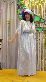 Kimila McFarland danced a Tahitian number while entertaining a full house at the Cordes Lakes annual Ladies Luncheon.<br> BBN/Pat Williamson
